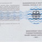 SRC - Short Range Certificate